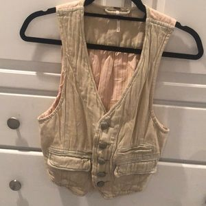 Free People distressed denim vest